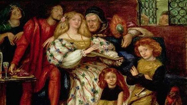 La familia Borgia por Dante Rossetti