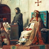 """""""El Papa Formoso I y Esteban VI"""" de Jean Paul Laurens"""