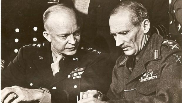 Eisenhower y Montgomery